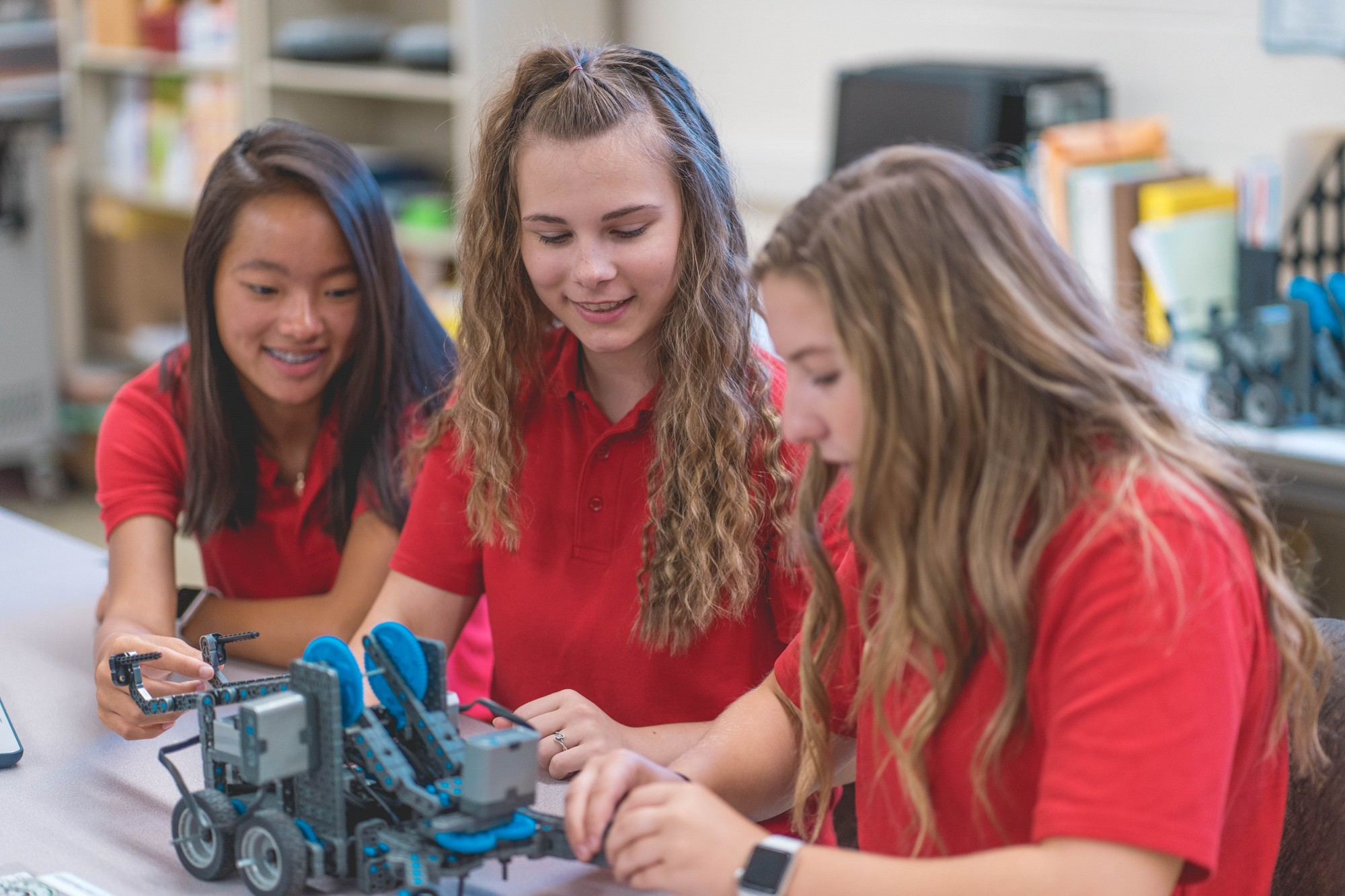 mcs students STEM robot
