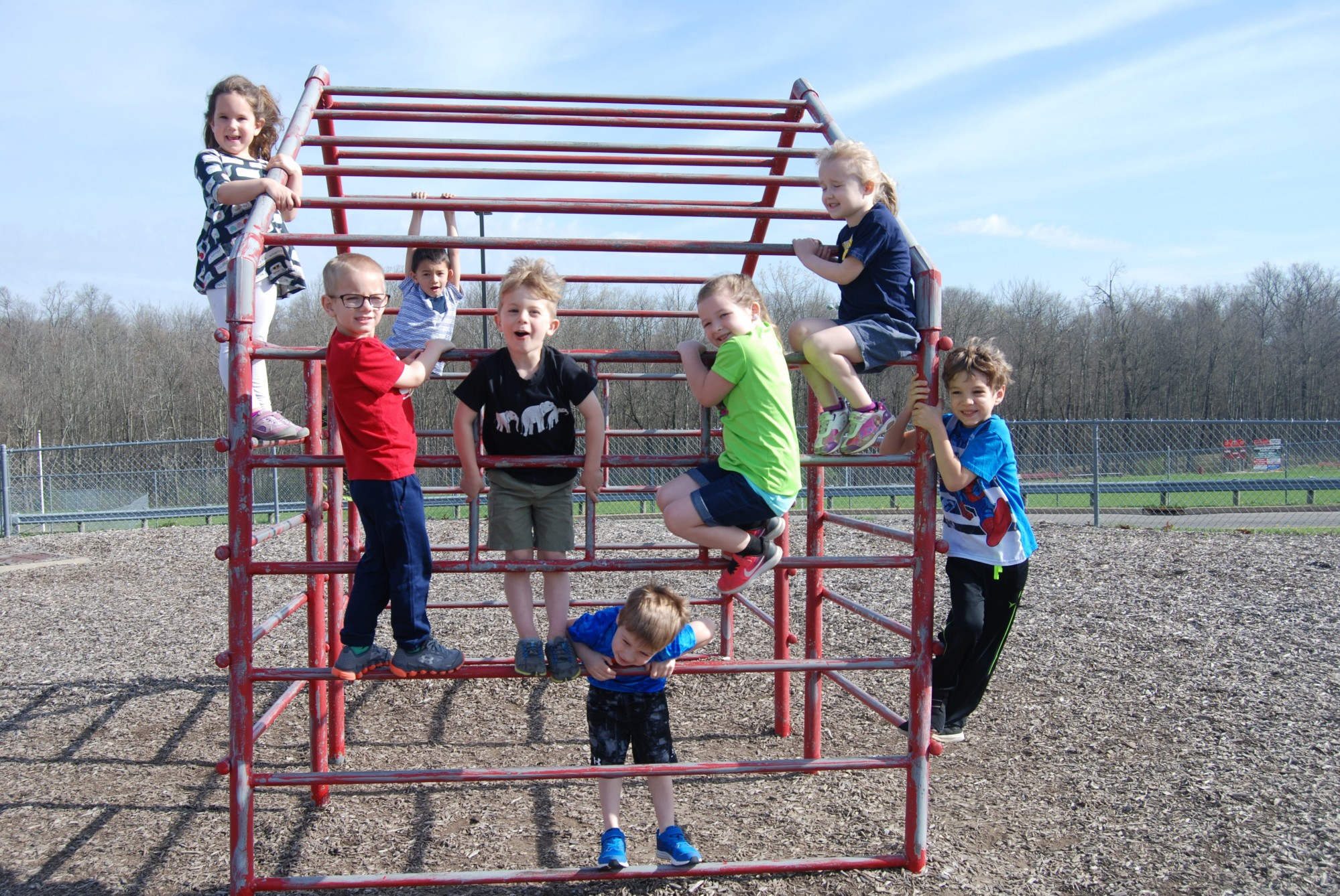 playground, kids, prek, mansfield christian school, mansfield, ohio